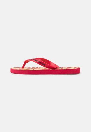 T-bar sandals - red