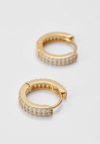 Orelia - CHUNKY HUGGIE HOOPS - Earrings - pale gold-coloured - 3