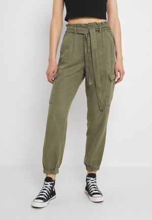 PAPERBAG JOGGER - Cargo trousers - olive