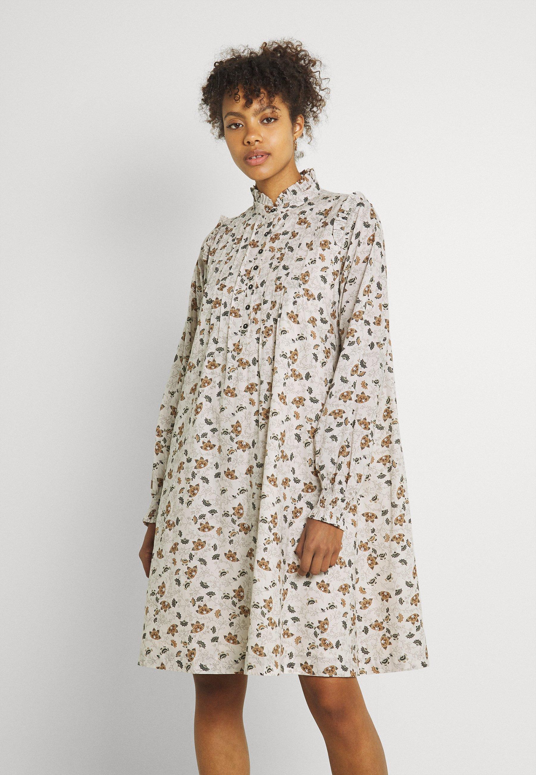 Women BYISSA DRESS - Day dress - toffee