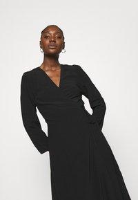 Samsøe Samsøe - BRITT WRAP DRESS - Day dress - black - 4
