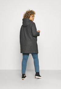 Vero Moda Curve - VMASTA COATED JACKET - Classic coat - asphalt - 2