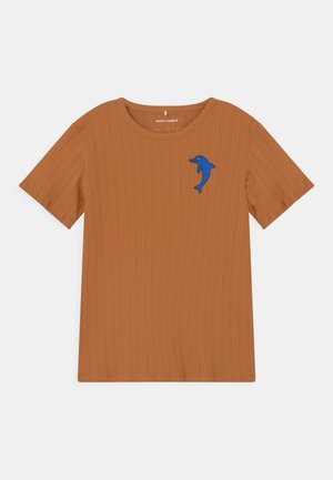 DOLPHIN TEE UNISEX - Print T-shirt - brown