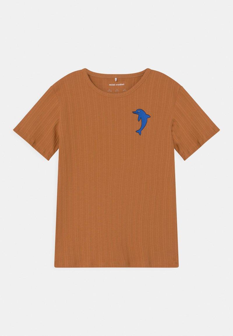 Mini Rodini - DOLPHIN TEE UNISEX - Print T-shirt - brown