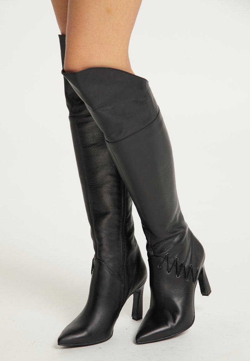 faina - Laarzen met hoge hak - schwarz