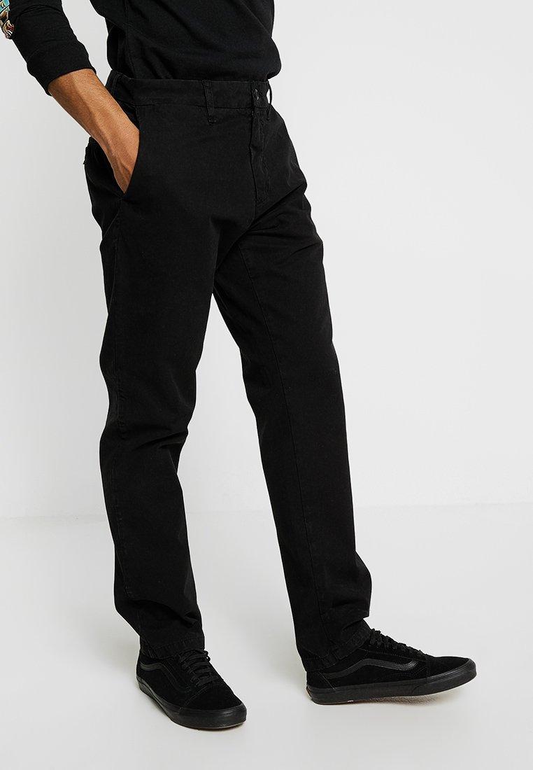 Carhartt WIP - JOHNSON PANT MIDVALE - Chinos - black