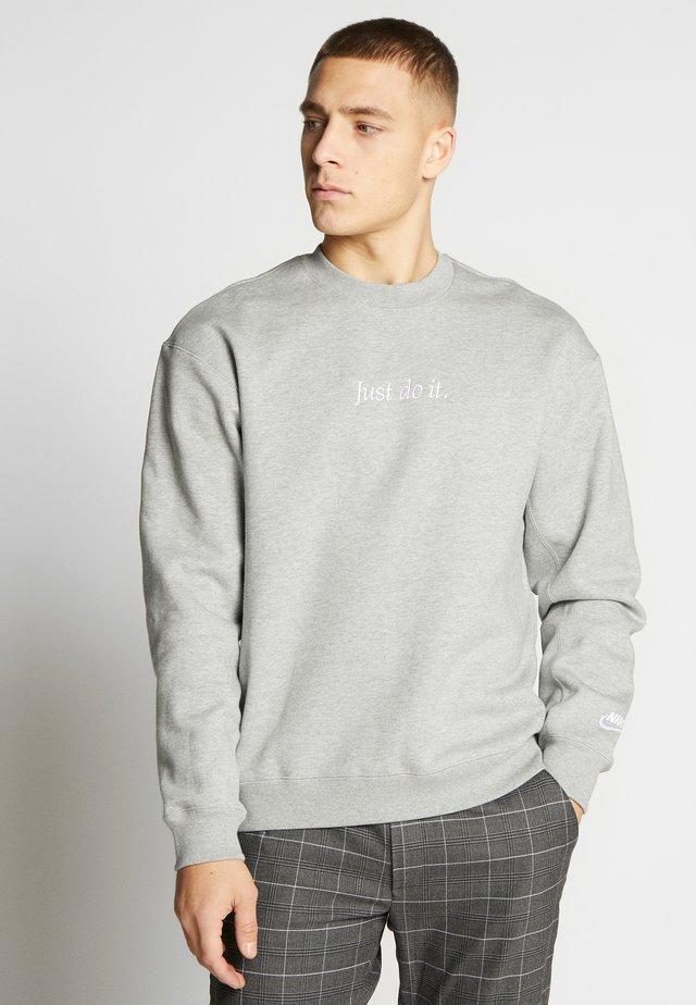 Collegepaita - dark grey heather/white