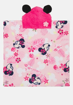 BABY GIRL PONCHOMINNIE - Bath towel - hot pink