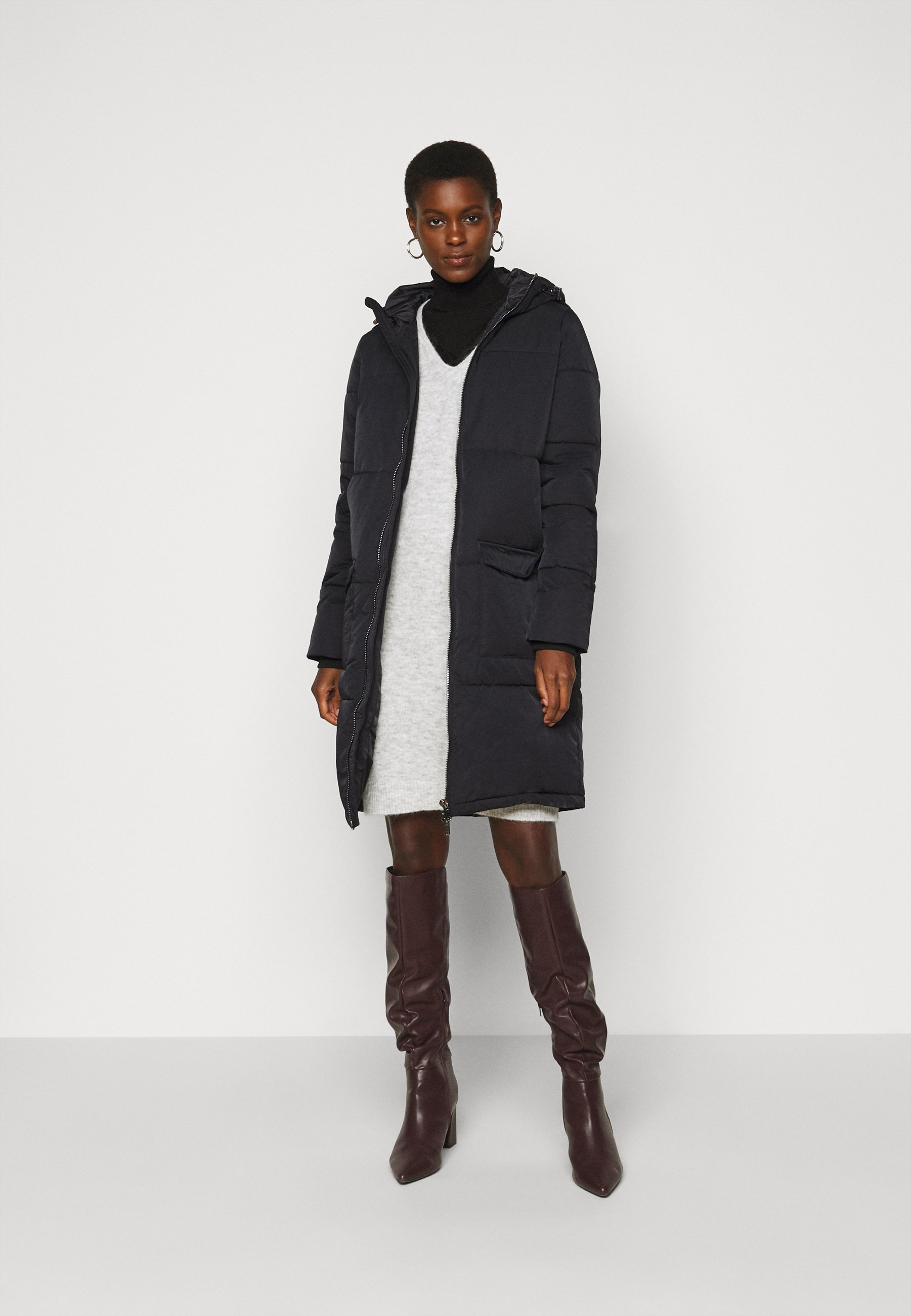 Women OBJZHANNA LONG JACKET - Winter coat