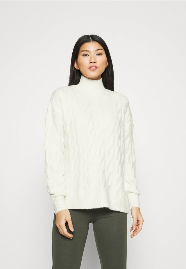JAC CABLE SLOUCHY - Trui - ivory frost