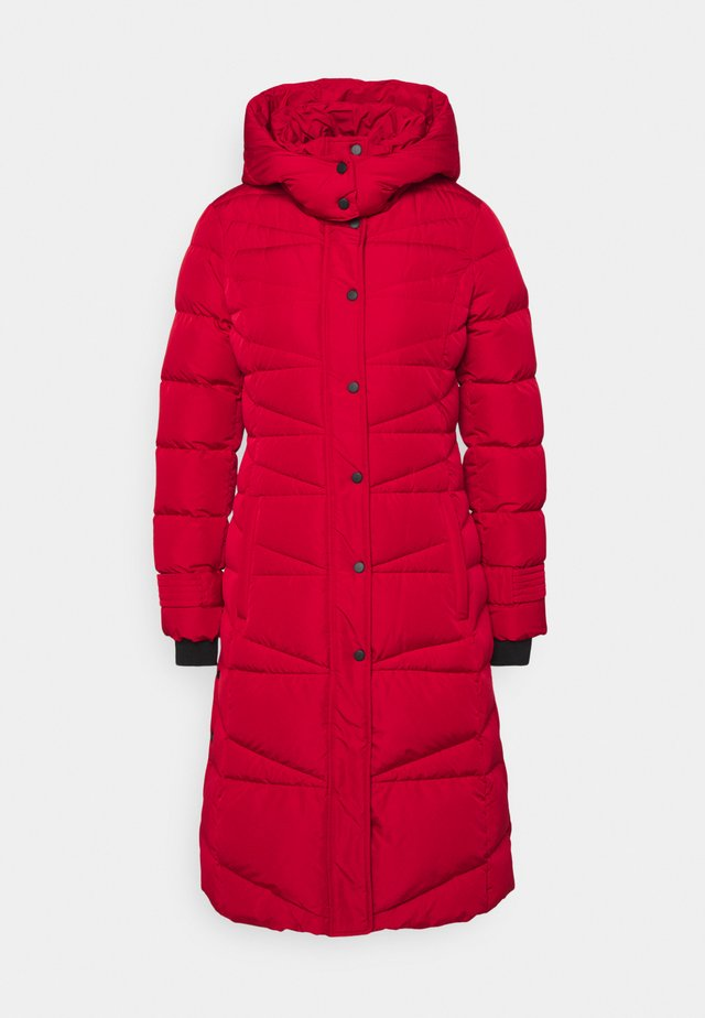 Down coat - crimson red