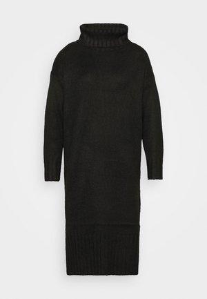 ROLL NECK DRESS - Jumper dress - black
