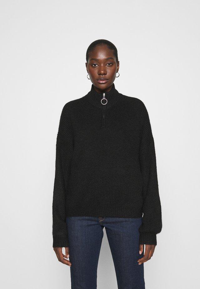 Half zip jumper - Jumper - black