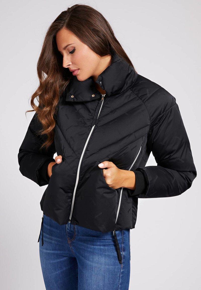 Guess - WATTIERTE JACQUARD A$AP ROCKY - Winter jacket - schwarz