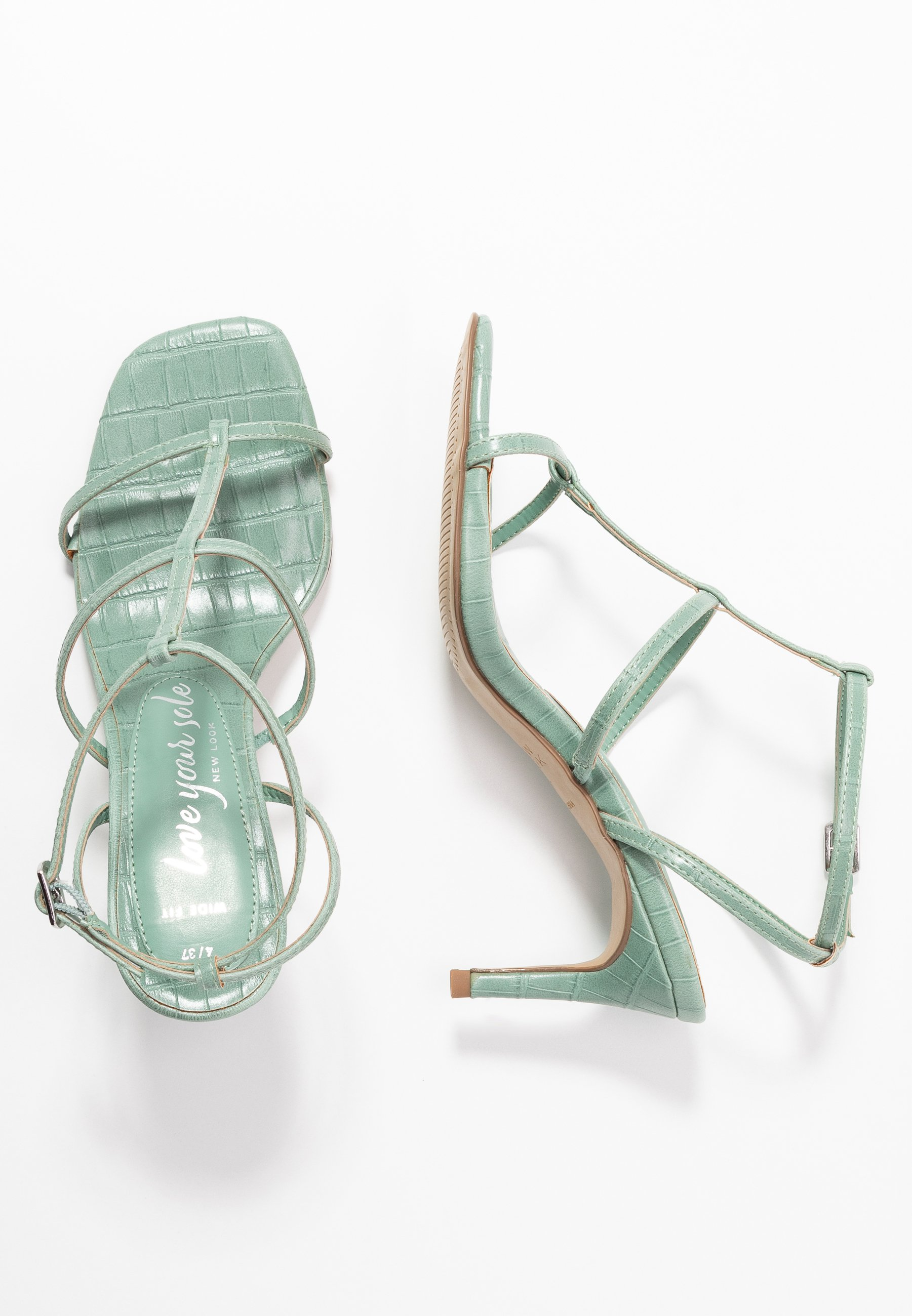 New Look Wide Fit - WIDE FIT TUTTING - Sandals - light green