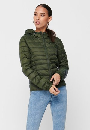 ONLTAHOE HOOD JACKET  - Light jacket - forest night