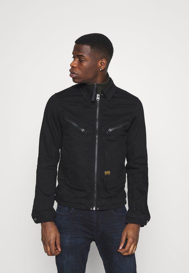 AIR FORCE DENIM - Denim jacket - nero black stretch denim/pitch black