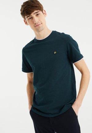 MET STRUCTUUR - Basic T-shirt - dark green