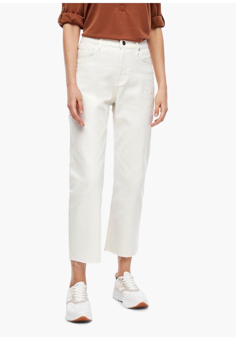 s.Oliver - Straight leg jeans - beige