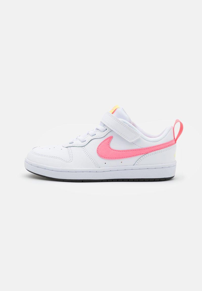 Nike Sportswear - COURT BOROUGH 2 UNISEX - Sneakers basse - white/sunset pulse/light zitron/black