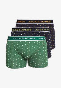 Jack & Jones - JACDOTS TRUNKS 3 PACK - Panties - navy blazer/navy blazer/verdant green - 5