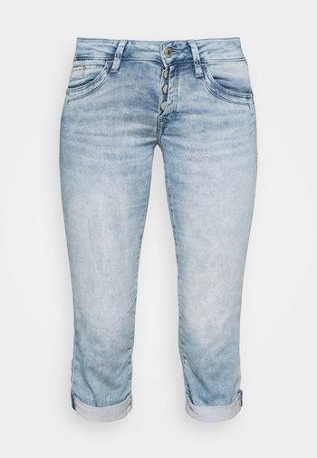 ALMA - Denim shorts - light blue denim