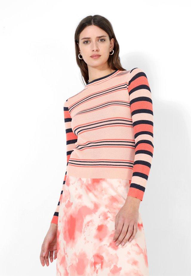 STRIPES  - Trui - light red, mottled pink, mottled dark blue