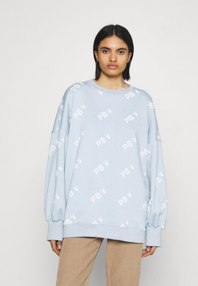 PLAYBOY OVERSIZED - Bluza - dusky blue