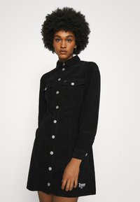 Tommy Jeans - FITTED DRESS - Shirt dress - black - 3