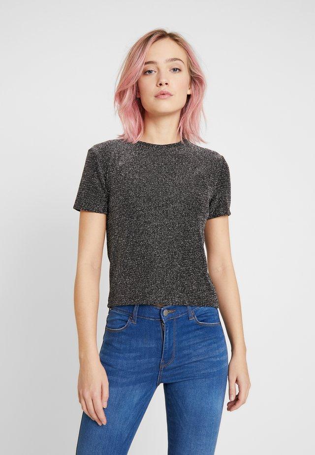 BETH - T-shirt med print - black sparkle