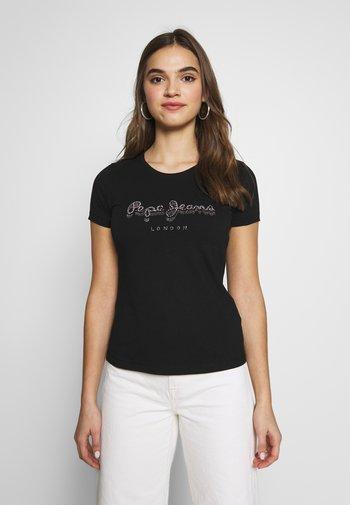 BEATRICE - T-shirts med print - black
