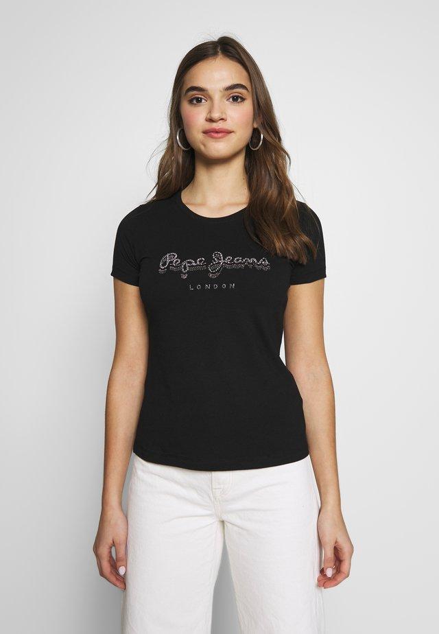 BEATRICE - Print T-shirt - black