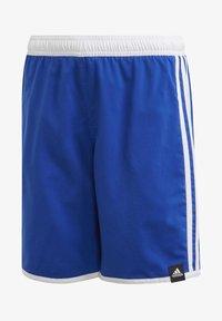 adidas Performance - 3 STRIPES PRIMEGREEN REGULAR SWIM SHORTS - Swimming shorts - blue - 0
