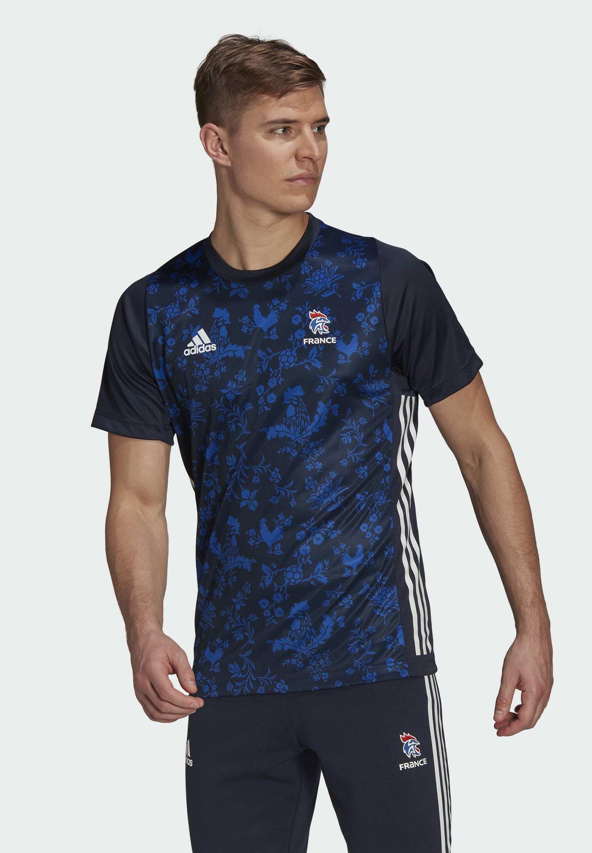 Men FFHB M HB PERFORMANCE AEROREADY PRIMEGREEN HANDBALL REGULAR T-SHIRT - National team wear