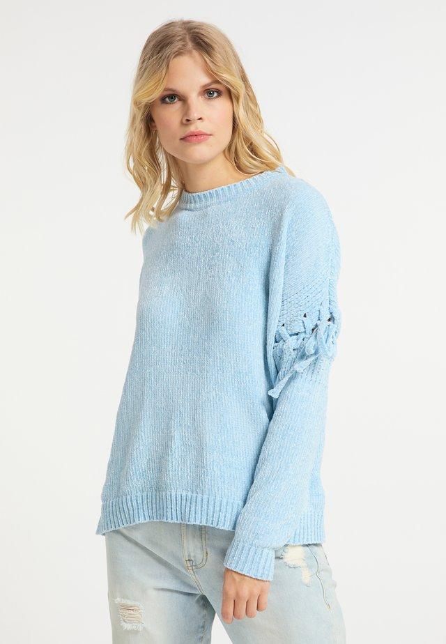 Sweter - hellblau