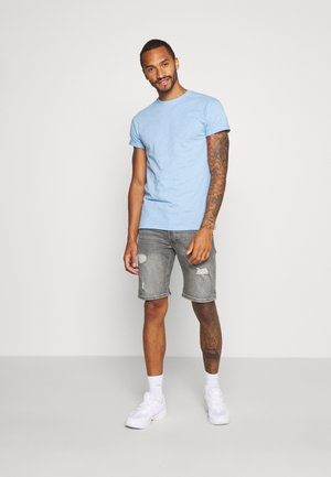 2 PACK - Basic T-shirt - grey/blue