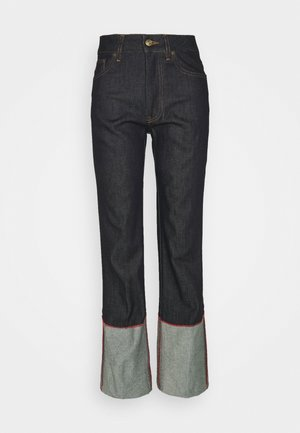 SPLIT HEM  - Straight leg jeans - raw indigo
