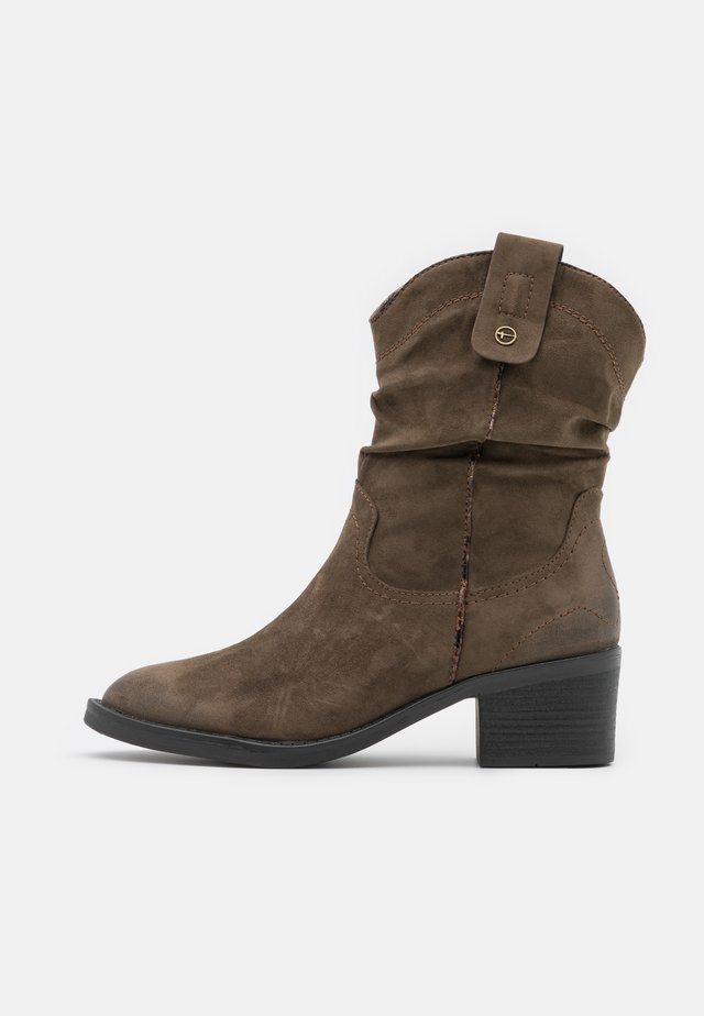 BOOTS - Cowboy/biker ankle boot - olive
