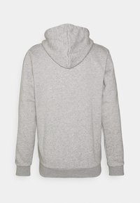 adidas Performance - 3 STRIPES FLEECE FULL ZIP ESSENTIALS SPORTS TRACK JACKET HOODIE - Zip-up sweatshirt - medium grey heather - 7