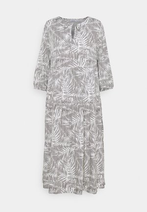 VOLANT DRESS PALM LEAVES - Sukienka letnia - white