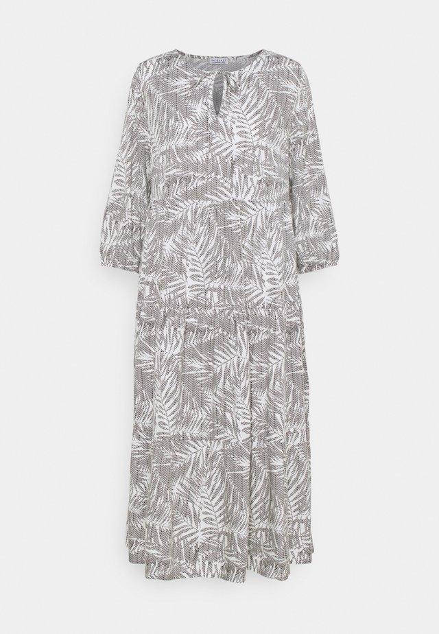 VOLANT DRESS PALM LEAVES - Kjole - white