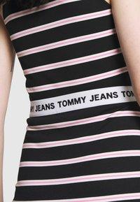 Tommy Jeans - STRIPE BODYCON MIDI SKIRT - Gonna a tubino - black / multi - 3