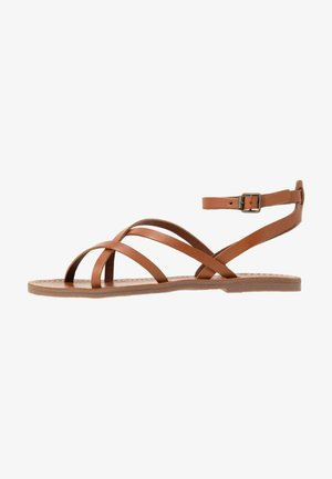 BOARDWALK SKINNY - Sandals - english saddle