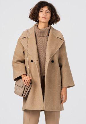 Classic coat - camel-melange