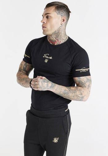 EXPOSED TAPE RAGLAN GYM TEE - Basic T-shirt - black