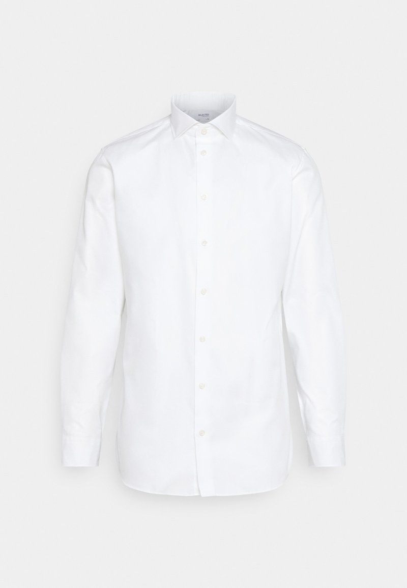 Selected Homme - SLHSLIMETHAN CUT AWAY - Camicia elegante - bright white