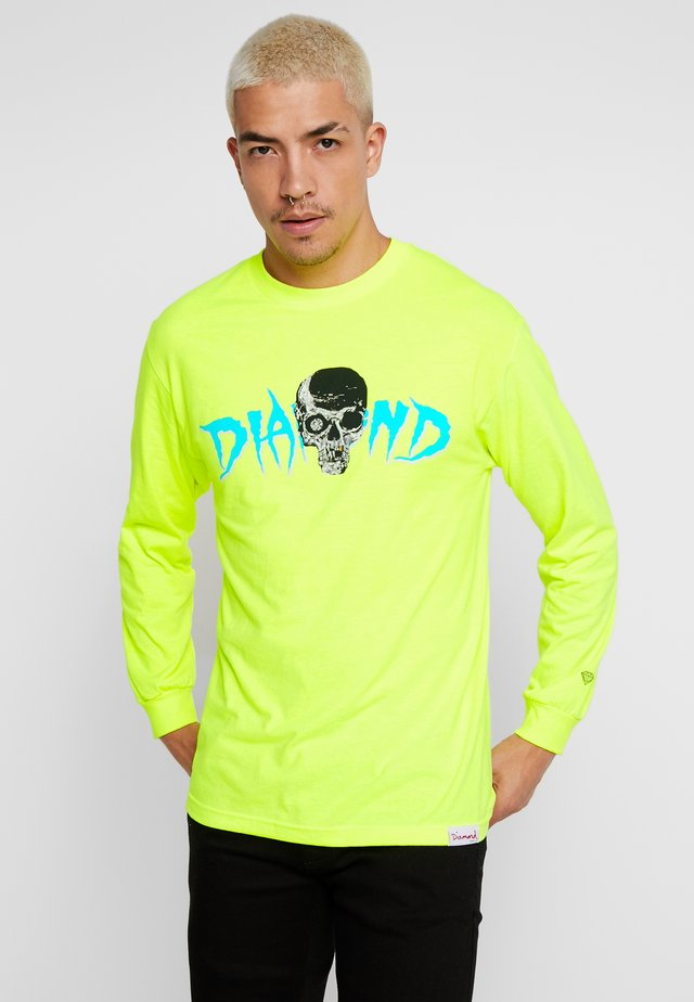 BURIAL GROUND TEE - Long sleeved top - safety green