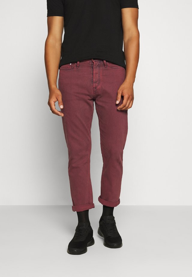 CROP - Džíny Relaxed Fit - rosewood