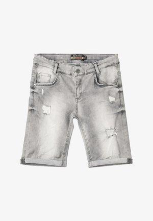 BOYS - Denim shorts - medium grey destroyed