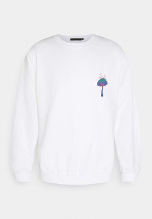 UNISEX SHROOM PRINT SWEATSHIRT - Zip-up hoodie - white
